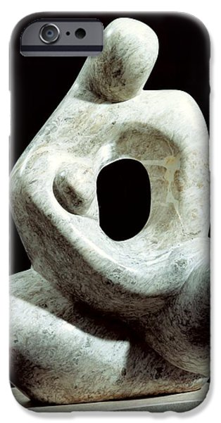 Abstract Sculptures iPhone Cases - Yearning   iPhone Case by Shimon Drory