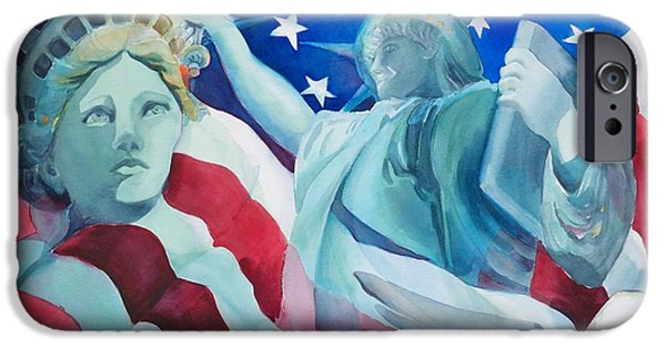 Best Sellers -  - 4th July Paintings iPhone Cases - Yearning To Be Free iPhone Case by Sue  Kemp
