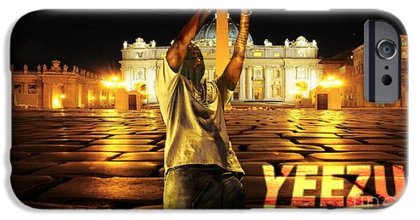 Kanye West iPhone Cases - Yeezus9 iPhone Case by Maryfornia Collections