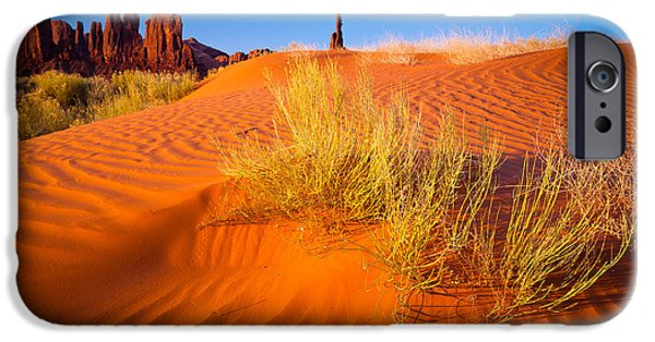 Wavy iPhone Cases - Yei-bi-Chai rocks and dunes iPhone Case by Inge Johnsson