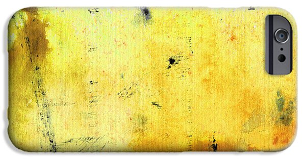 Abstract Expressionist iPhone Cases - Yellow Abstract Art - Lemon Haze - By Sharon Cummings iPhone Case by Sharon Cummings