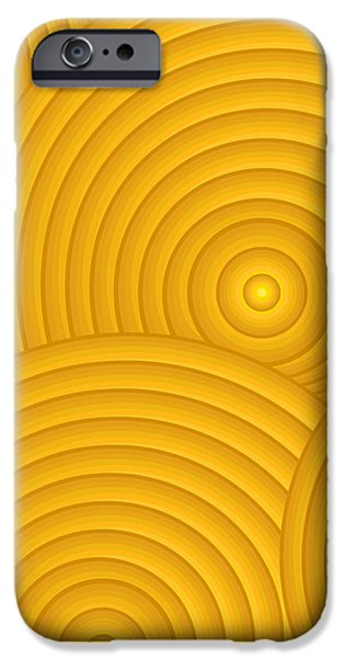 Yellow Abstract iPhone Case by Frank Tschakert