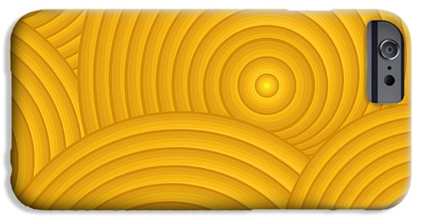 Sienna iPhone Cases - Yellow Abstract iPhone Case by Frank Tschakert