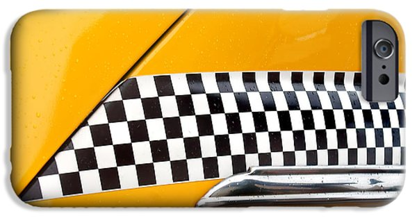 Recently Sold -  - Sears Tower iPhone Cases - Yellow Cab #4 iPhone Case by Nikolyn McDonald