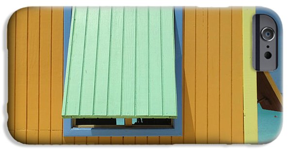 Cabin Window iPhone Cases - Yellow Cabin iPhone Case by Randall Weidner