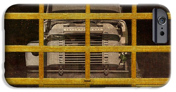 Delivery Truck iPhone Cases - Yellow Cage iPhone Case by Jeff  Gettis