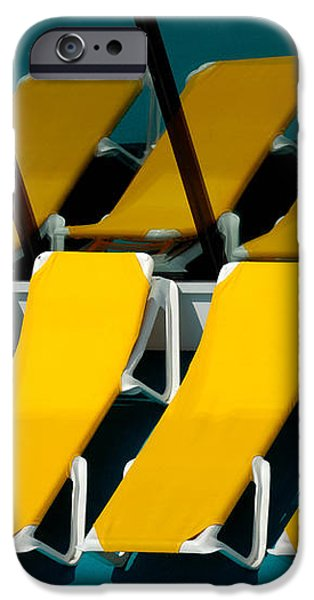 Yellow Chairs Reflected iPhone Case by Amy Cicconi