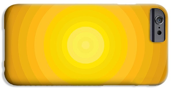 Disc iPhone Cases - Yellow Circles iPhone Case by Frank Tschakert