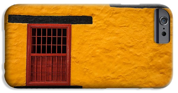 Spanish House iPhone Cases - Yellow Colonial Wall iPhone Case by Jess Kraft