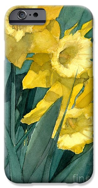 Best Sellers -  - Botanic Illustration iPhone Cases - Yellow Daffodils iPhone Case by Greta Corens