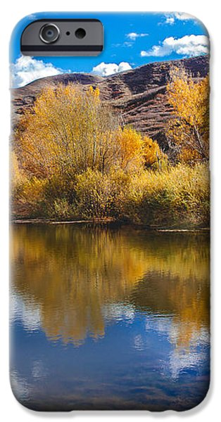 Yellow Fall Reflections iPhone Case by Robert Bales