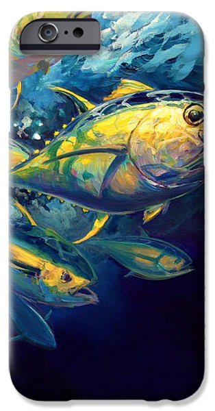 Yellow fins iPhone Case by Mike Savlen