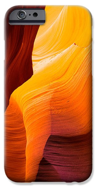 Red Rock iPhone Cases - Yellow Fire iPhone Case by James Hammond