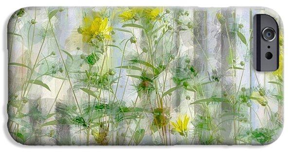Painter Photographs iPhone Cases - Yellow Flower Garden iPhone Case by  The Art Of Marilyn Ridoutt-Greene