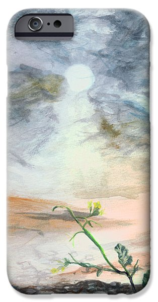 Iraq Paintings iPhone Cases - Yellow Flower iPhone Case by Kd Neeley