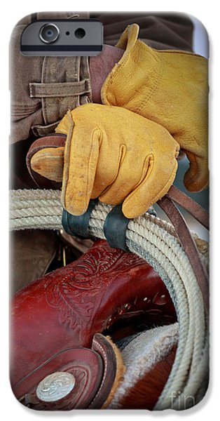 Yellow Gloves iPhone Case by Inge Johnsson