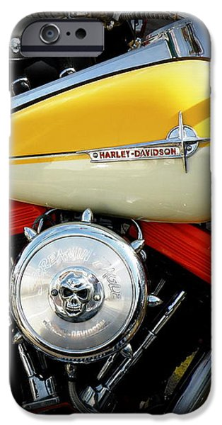 Yellow Harley iPhone Case by Lainie Wrightson