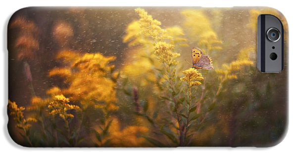 Floral Photographs iPhone Cases - Yellow Heaven iPhone Case by Magda  Bognar