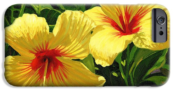 Hibiscus iPhone Cases - Yellow Hibiscus iPhone Case by Steve Simon