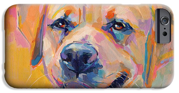 Yellow Labs iPhone Cases - Yellow iPhone Case by Kimberly Santini