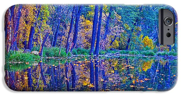 West Fork iPhone Cases - Yellow Leaves iPhone Case by Brian Lambert