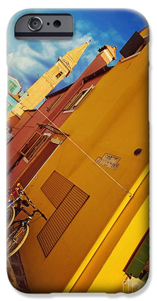 Canal Street Line iPhone Cases - Yellow Mellow iPhone Case by Danilo Piccioni