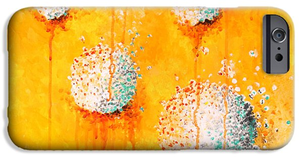 Sphere Paintings iPhone Cases - Yellow iPhone Case by Michelle Boudreaux