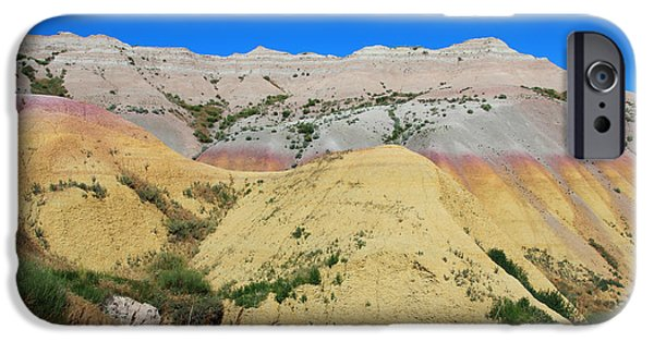 Mounds iPhone Cases - Yellow Mounds Badlands National Park iPhone Case by Jemmy Archer