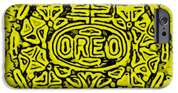Oreo iPhone Cases - Yellow Oreo iPhone Case by Rob Hans