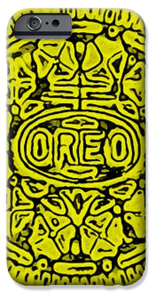 YELLOW OREO iPhone Case by ROB HANS