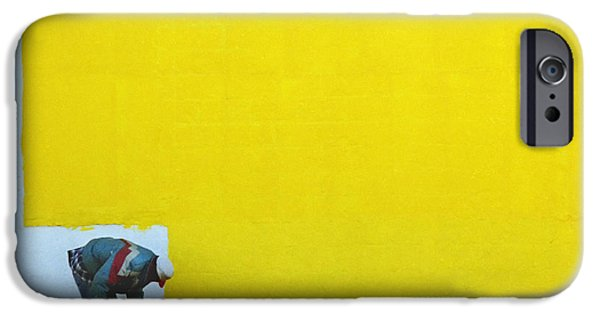 Painter Photographs iPhone Cases - Yellow Paint iPhone Case by Tom Brickhouse