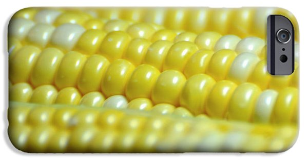 Sweet Corn iPhone Cases - Yellow Pearls iPhone Case by Diana Angstadt