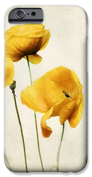 Pillow iPhone Cases - Yellow Poppy Photography - Yellow Poppies - Yellow Flowers - Olive Green Yellow Floral Wall Art iPhone Case by Amy Tyler