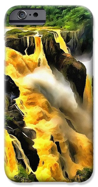 Catherine White Digital Art iPhone Cases - Yellow River iPhone Case by Catherine Lott AKA The Broadcast Monkey