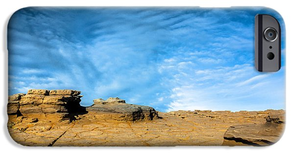 Edgar Laureano Photographs iPhone Cases - Yellow rock iPhone Case by Edgar Laureano