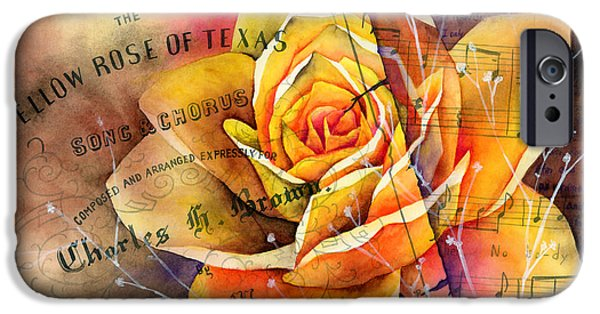Rose iPhone Cases - Yellow Rose of Texas iPhone Case by Hailey E Herrera