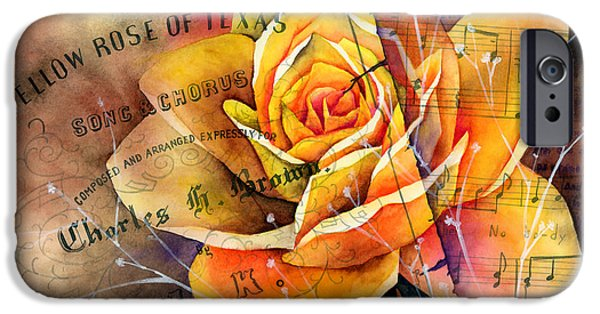 Recently Sold -  - Flora iPhone Cases - Yellow Rose of Texas iPhone Case by Hailey E Herrera