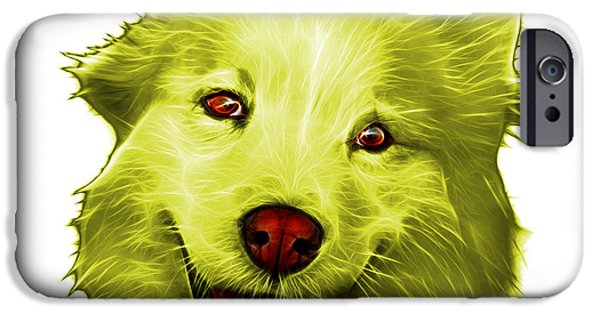 Mixed Labrador Retriever Paintings iPhone Cases - Yellow Siberian Husky Mix Dog Pop Art - 5060 WB iPhone Case by James Ahn