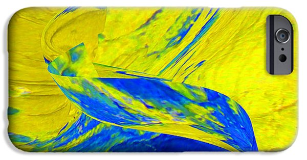 Abstracts Ceramics iPhone Cases - Yellow Stream iPhone Case by Gabriele Mueller