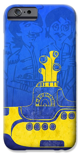 Yellow Submarine iPhone Case by Andee Design