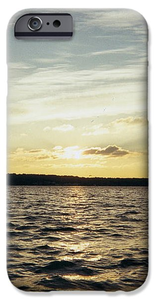Yellow Sunrise in Manhassett Bay iPhone Case by JOHN TELFER