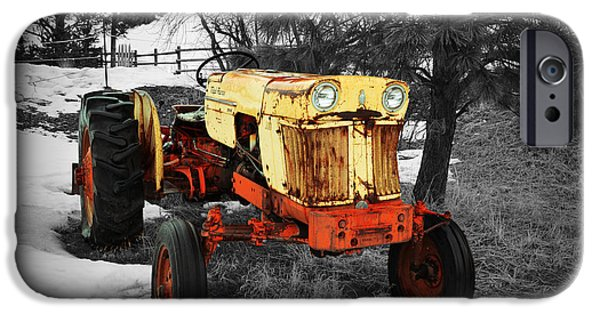 Agriculture iPhone Cases - Yellow Tractor iPhone Case by Brandyn King
