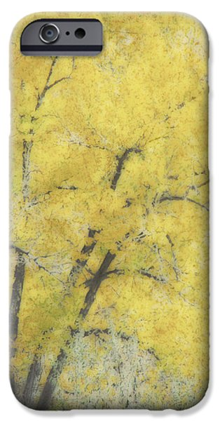 Ann Powell iPhone Cases - Yellow Trees iPhone Case by Ann Powell