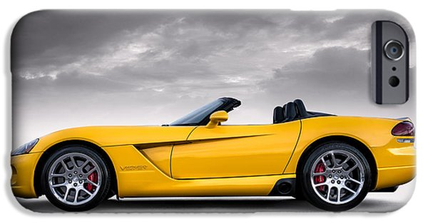 Yellow iPhone Cases - Yellow Viper Roadster iPhone Case by Douglas Pittman