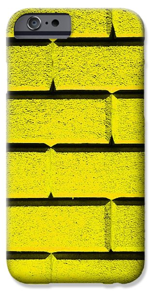 Yellow Wall iPhone Case by Semmick Photo