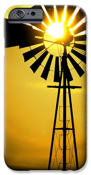 Yellow Wind iPhone Case by Jerry McElroy