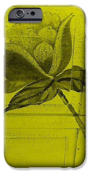 Botanic Illustration Digital Art iPhone Cases - Yellow Wood Flower iPhone Case by Rob Hans