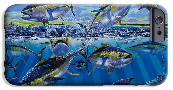 Vikings Paintings iPhone Cases - Yellowfin run Off002 iPhone Case by Carey Chen