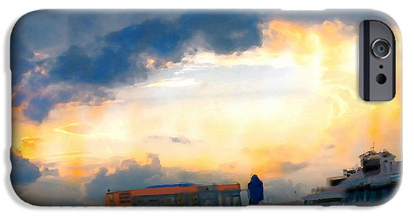 Turin Digital Art iPhone Cases - Yellows of Florence iPhone Case by Marcello Cicchini