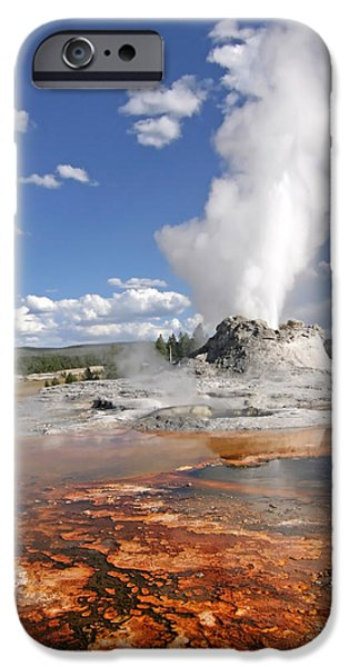 Mammoth Terrace iPhone Cases - Yellowstone - Mammoth Hot Springs iPhone Case by Nomad Art And  Design